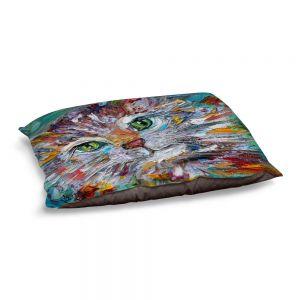 Decorative Dog Pet Beds | Karen Tarlton - Green Eyes | Cat Abstract