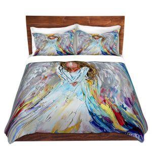 Artistic Duvet Covers and Shams Bedding   Karen Tarlton - Guardian Angel 1   Spiritual People