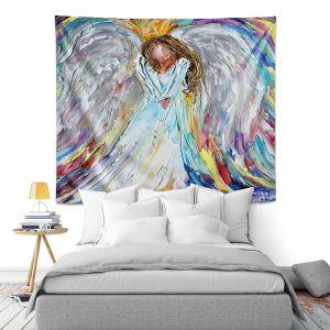 Artistic Wall Tapestry   Karen Tarlton - Guardian Angel 1   Spiritual People
