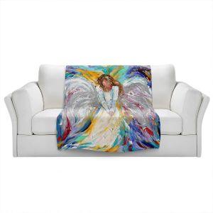 Artistic Sherpa Pile Blankets | Karen Tarlton - Guardian Angel 2 | Spiritual People