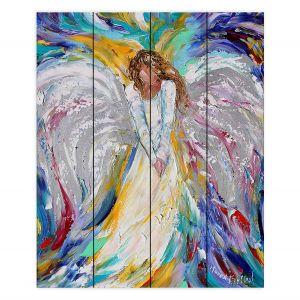 Decorative Wood Plank Wall Art | Karen Tarlton - Guardian Angel 2 | Spiritual People