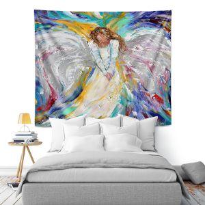 Artistic Wall Tapestry   Karen Tarlton - Guardian Angel 2   Spiritual People