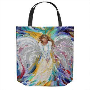 Unique Shoulder Bag Tote Bags | Karen Tarlton - Guardian Angel 2 | Spiritual People