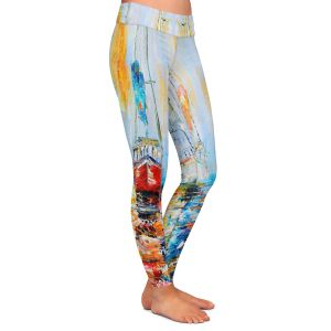 Casual Comfortable Leggings | Karen Tarlton - Harbor Boats Sunrise
