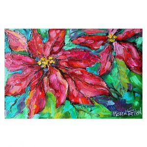 Decorative Floor Covering Mats | Karen Tarlton - Holiday Poinsettia | Christmas Flower