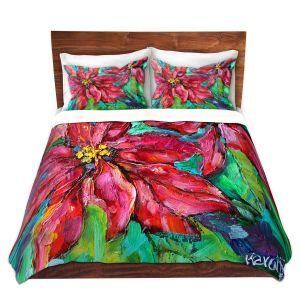 Artistic Duvet Covers and Shams Bedding | Karen Tarlton - Holiday Poinsettia | Christmas Flower