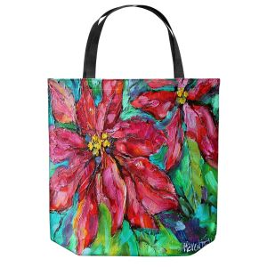 Unique Shoulder Bag Tote Bags | Karen Tarlton - Holiday Poinsettia | Christmas Flower