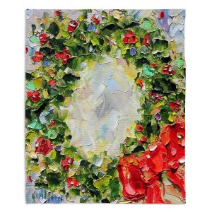 Artistic Sherpa Pile Blankets | Karen Tarlton - Holiday Wreath | Christmas Wreath