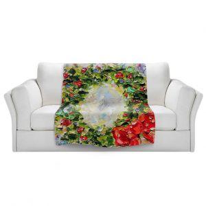 Artistic Sherpa Pile Blankets   Karen Tarlton - Holiday Wreath   Christmas Wreath