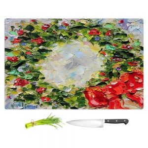 Artistic Kitchen Bar Cutting Boards | Karen Tarlton - Holiday Wreath | Christmas Wreath