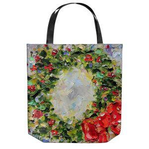 Unique Shoulder Bag Tote Bags | Karen Tarlton - Holiday Wreath | Christmas Wreath