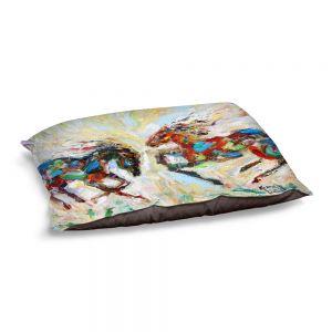 Decorative Dog Pet Beds | Karen Tarlton - Horse Play III | Nature Animals Horses