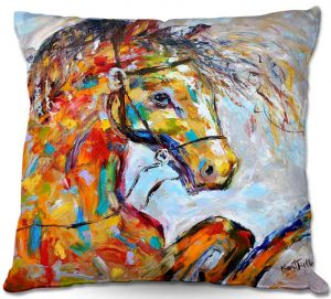 Unique Outdoor Pillow 18X18 from DiaNoche Designs by Karen Tarlton - Horse Portait