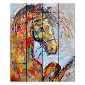 Decorative Wood Plank Wall Art | Karen Tarlton Horse Portait
