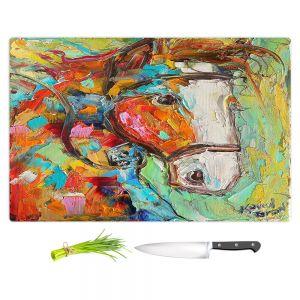 Artistic Kitchen Bar Cutting Boards | Karen Tarlton - Horse Portrait ll