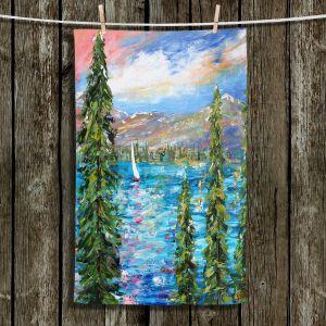 Unique Bathroom Towels   Karen Tarlton - Lake Tahoe Sunset