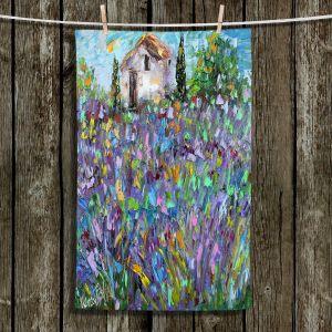 Unique Bathroom Towels | Karen Tarlton - Lavender Fields | Nature Flowers Farms