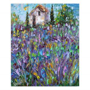 Decorative Wood Plank Wall Art | Karen Tarlton - Lavender Fields | Nature Flowers Farms