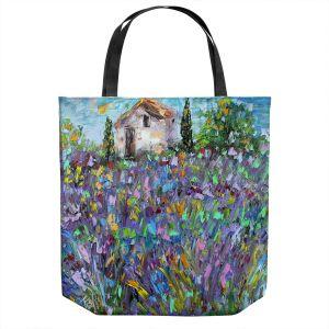 Unique Shoulder Bag Tote Bags | Karen Tarlton - Lavender Fields | Nature Flowers Farms