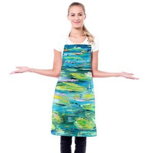Artistic Bakers Aprons   Karen Tarlton - Lily Pond   Nature Water Lily