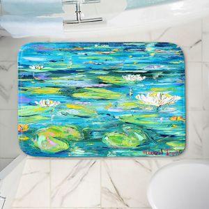 Decorative Bathroom Mats | Karen Tarlton - Lily Pond | Nature Water Lily