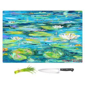 Artistic Kitchen Bar Cutting Boards | Karen Tarlton - Lily Pond | Nature Water Lily