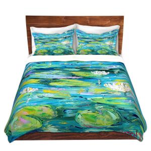 Artistic Duvet Covers and Shams Bedding | Karen Tarlton - Lily Pond | Nature Water Lily