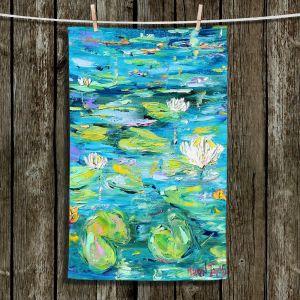 Unique Hanging Tea Towels | Karen Tarlton - Lily Pond | Nature Water Lily