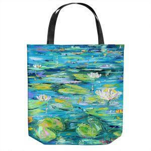 Unique Shoulder Bag Tote Bags   Karen Tarlton - Lily Pond   Nature Water Lily