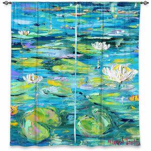 Decorative Window Treatments | Karen Tarlton - Lily Pond | Nature Water Lily