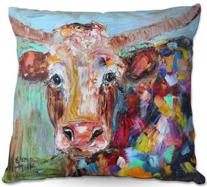 Unique Outdoor Pillow 20X20 from DiaNoche Designs by Karen Tarlton - Longhorn