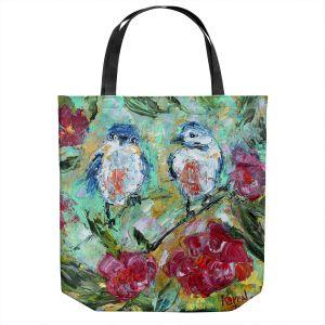 Unique Shoulder Bag Tote Bags   Karen Tarlton - Love Birds   Nature Flowers