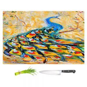 Artistic Kitchen Bar Cutting Boards | Karen Tarlton - Luminous Peacock I