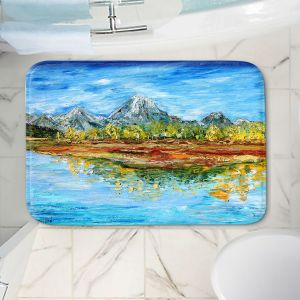 Decorative Bathroom Mats | Karen Tarlton - Mountain Lake | Forest Mountain Nature Lake