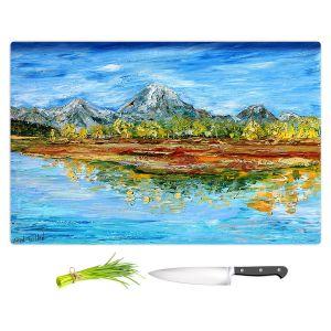 Artistic Kitchen Bar Cutting Boards | Karen Tarlton - Mountain Lake | Forest Mountain Nature Lake