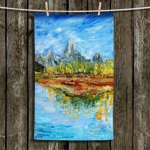 Unique Bathroom Towels | Karen Tarlton - Mountain Lake | Forest Mountain Nature Lake