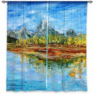 Decorative Window Treatments   Karen Tarlton - Mountain Lake   Forest Mountain Nature Lake