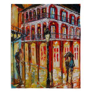 Decorative Fleece Throw Blankets | Karen Tarlton - New Orleans French Quarter