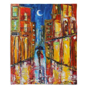 Decorative Fleece Throw Blankets | Karen Tarlton - New Orleans Rain
