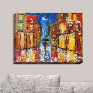 Decorative Canvas Wall Art | Karen Tarlton - New Orleans Rain | New Orleans Night Scene