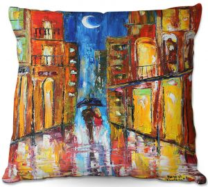 Throw Pillows Decorative Artistic | Karen Tarlton - New Orleans Rain