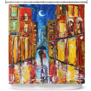 Premium Shower Curtains | Karen Tarlton - New Orleans Rain