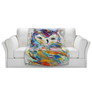 Unique Sherpa Blankets from DiaNoche Designs by Karen Tarlton - Owl Whimsy