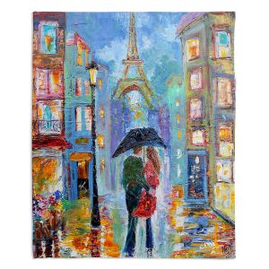 Decorative Fleece Throw Blankets | Karen Tarlton - Paris Romance Twilight
