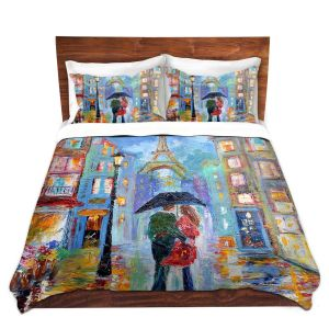 Artistic Duvet Covers and Shams Bedding | Karen Tarlton - Paris Romance Twilight