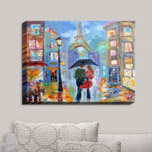 Decorative Canvas Wall Art | Karen Tarlton - Paris Romance Twilight