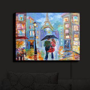 Nightlight Sconce Canvas Light   Karen Tarlton - Paris Romance Twilight