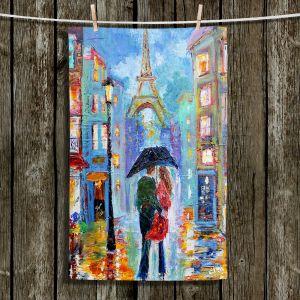 Unique Hanging Tea Towels | Karen Tarlton - Paris Romance Twilight | Paris France Eiffel Tower