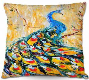 Throw Pillows Decorative Artistic | Karen Tarlton Luminous Peacock I