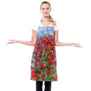 Artistic Bakers Aprons   Karen Tarlton - Poppy Field   Flower Nature